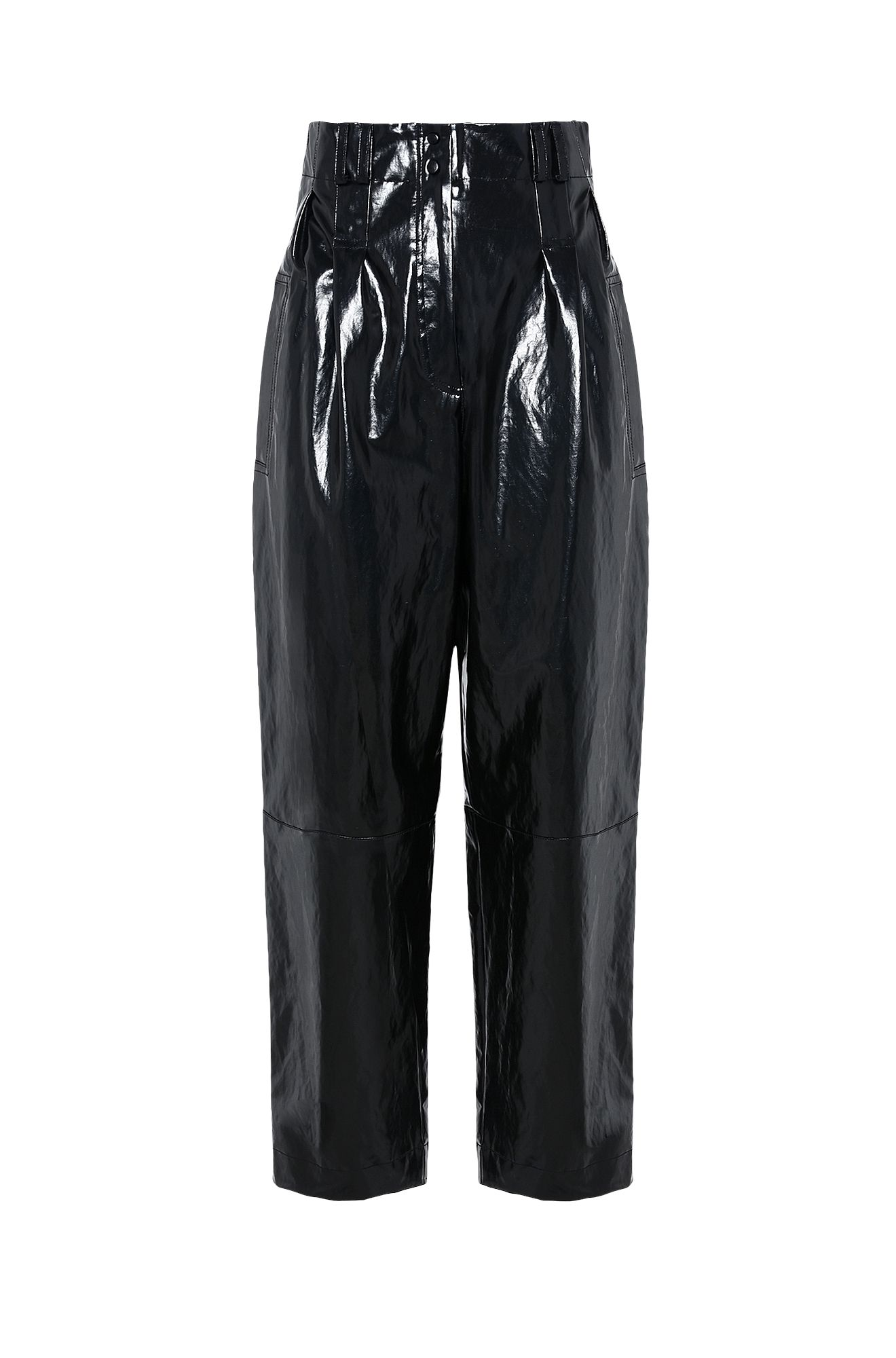 Trousers in vegan leather