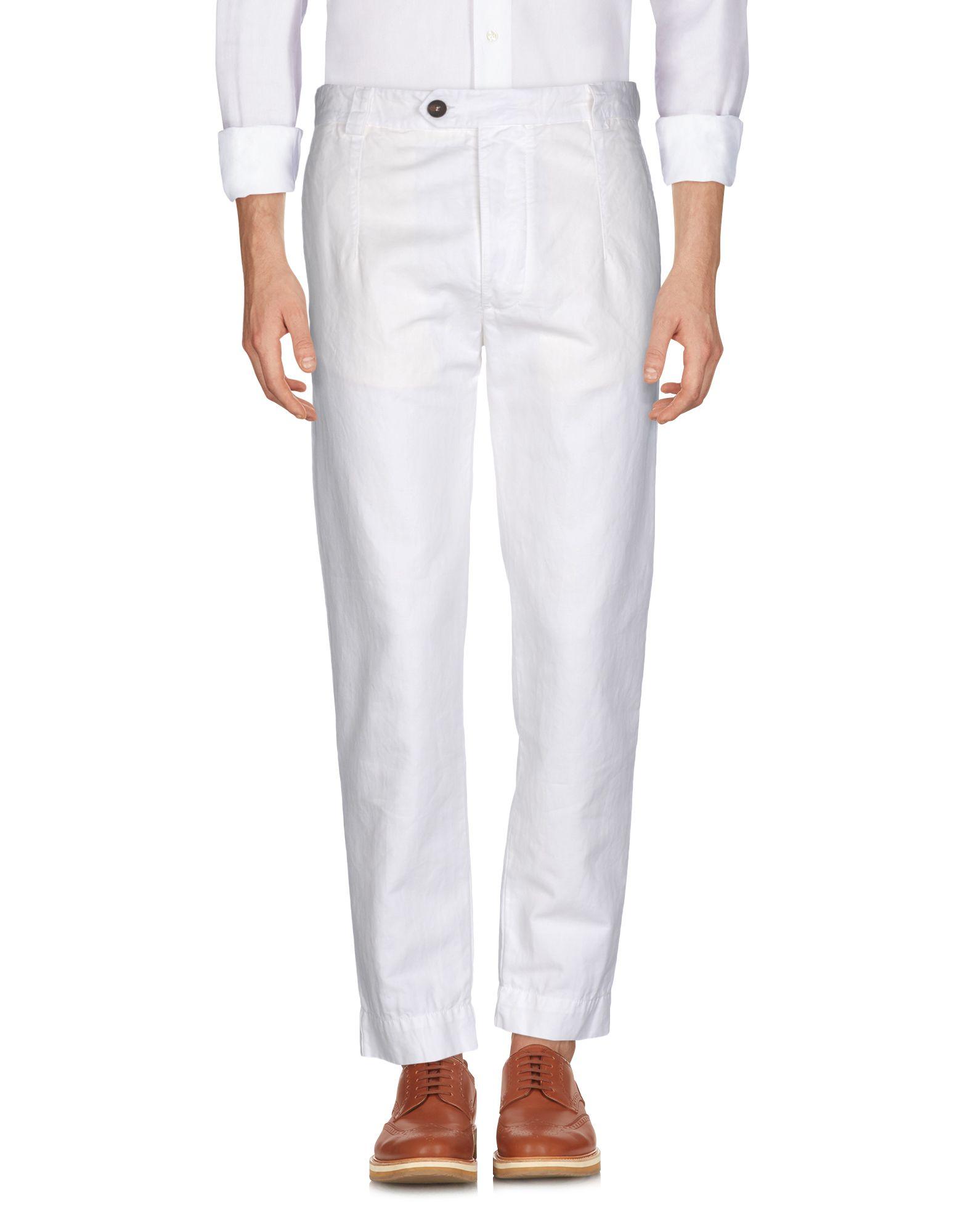 《セール開催中》AUTHENTIC ORIGINAL VINTAGE STYLE メンズ パンツ アイボリー 46 コットン 50% / 麻 50%