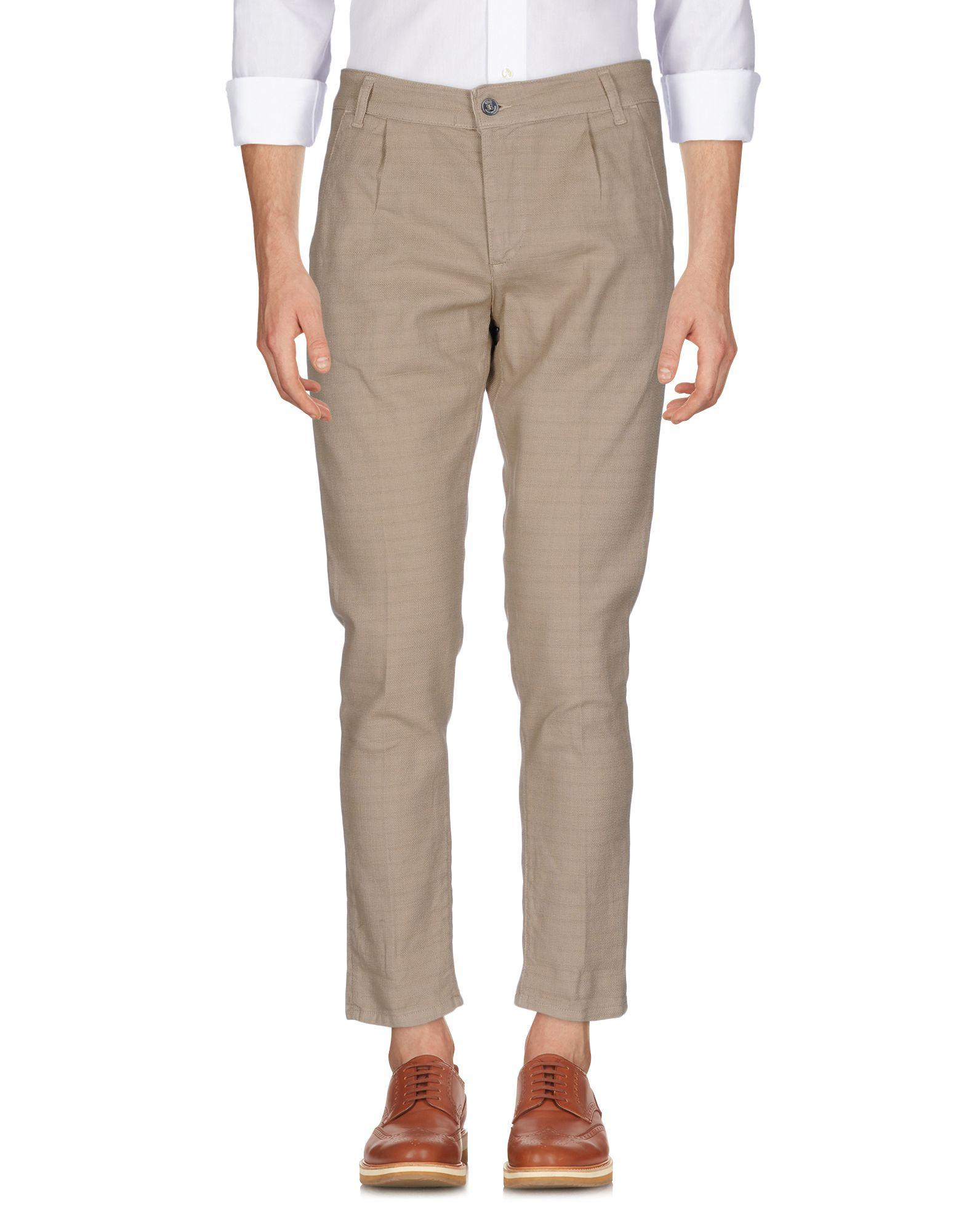 《送料無料》EREDI DEL DUCA メンズ パンツ サンド 46 コットン 97% / ポリウレタン 3%