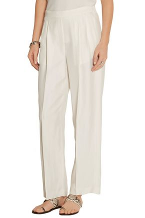 THE ROW Daray twill wide-leg pants
