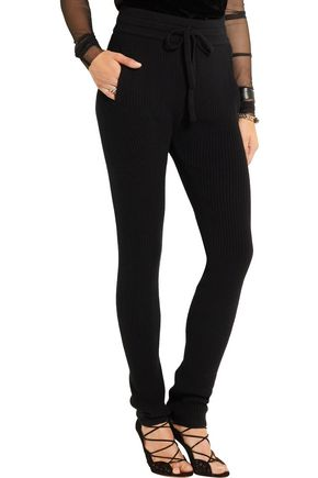 HAIDER ACKERMANN Ribbed wool and cashmere-blend leggings