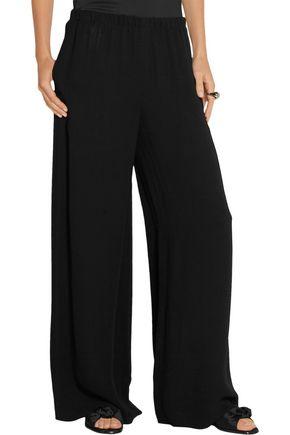 THE ROW Lene crepe wide-leg pants
