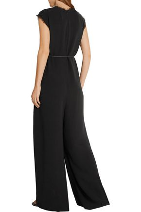 THE ROW Shubin silk-crepe wide-leg jumpsuit