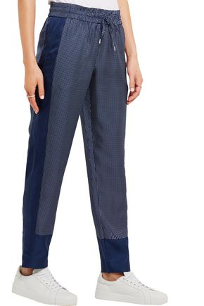 EQUIPMENT Hadley printed silk-twill track pants
