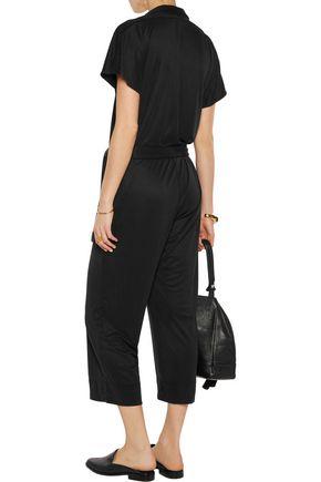 BY MALENE BIRGER Wrap-effect modal-blend piqué jumpsuit