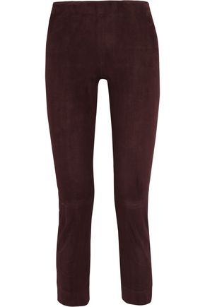 VINCE. Cropped suede leggings