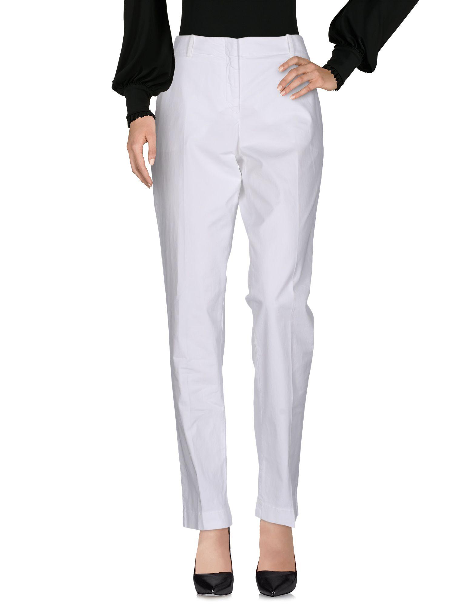 INCOTEX Damen Hose Farbe Weiß Größe 8 - broschei