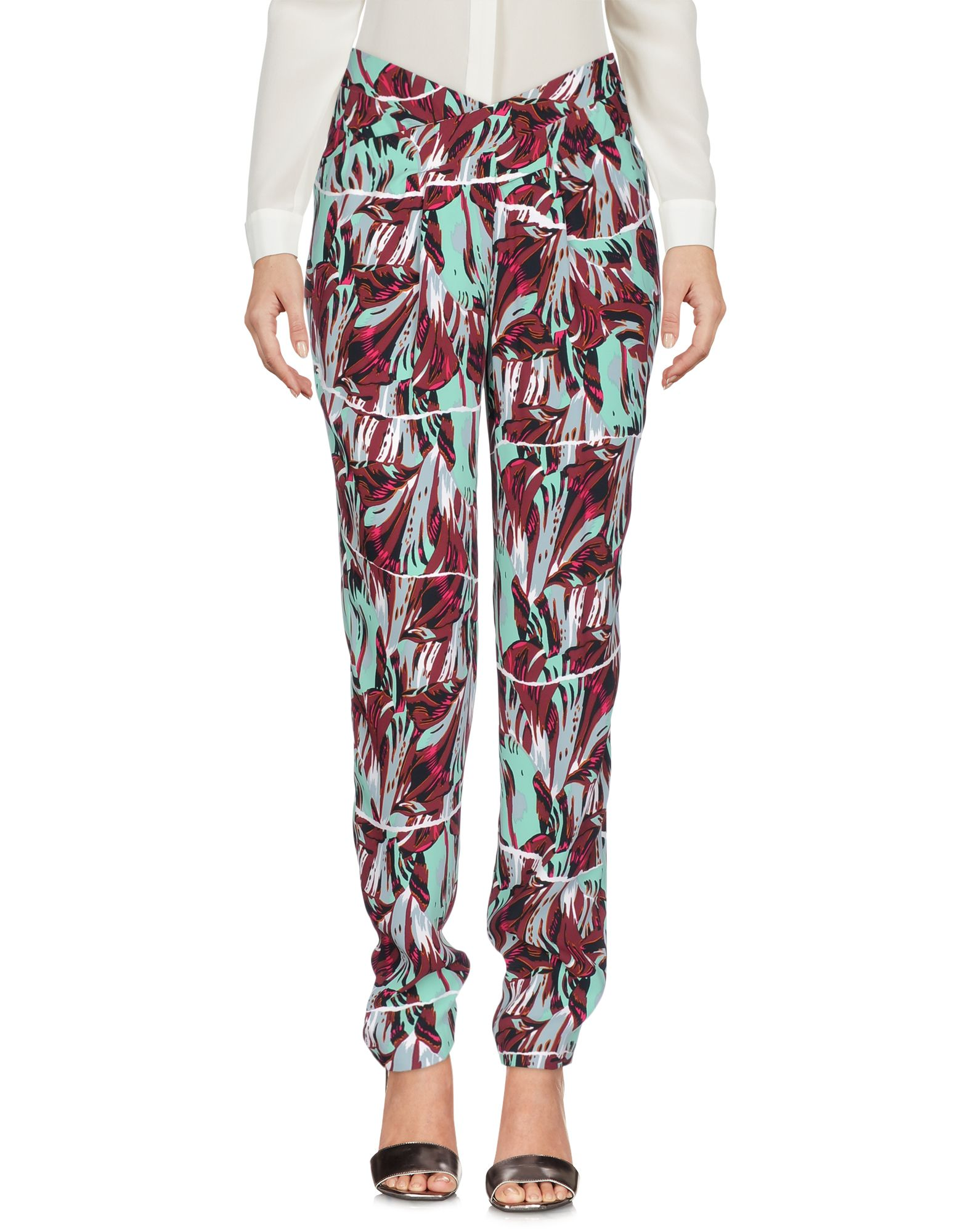 KENZO Damen Hose Farbe Säuregrün Größe 4 - broschei
