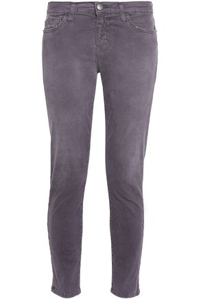 CURRENT/ELLIOTT Brushed-cotton mid-rised skinny jeans