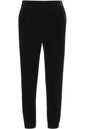 JOIE Pleated velvet tapered pants