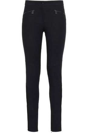 BELSTAFF Zip-detailed cotton-blend skinny pants
