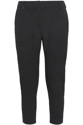 BELSTAFF Cropped cotton-blend crepe tapered pants