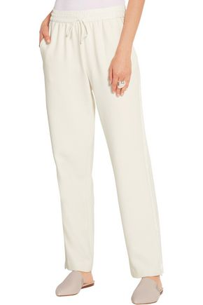 ELIZABETH AND JAMES Collier satin-trimmed stretch-twill track pants