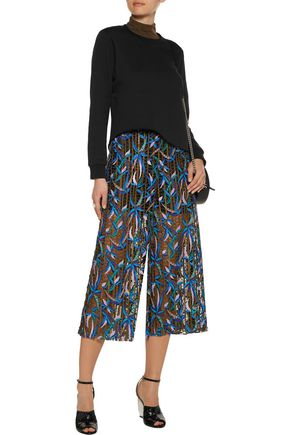 MSGM Embroidered tulle culottes