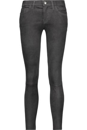 CURRENT/ELLIOTT The Stiletto suede skinny pants