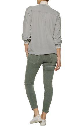 CURRENT/ELLIOTT Cotton-blend corduroy skinny pants
