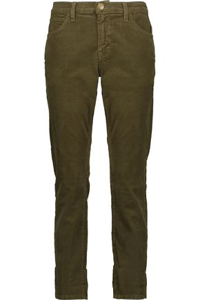 CURRENT/ELLIOTT The Fling cotton-blend corduroy slim pants