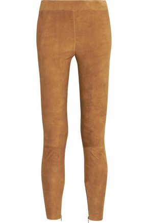VINCE. Stretch-suede leggings