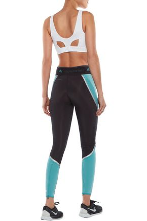 ADIDAS by STELLA McCARTNEY Two-tone stretch leggings