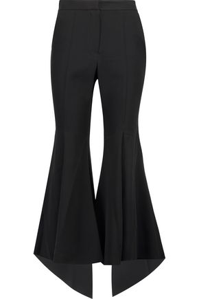 GOEN.J Stretch-silk twill flared slim-leg pants