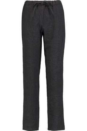 MAJESTIC Linen straight-leg pants