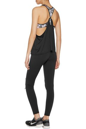 KAIN LABEL Simone pintucked stretch-jersey leggings