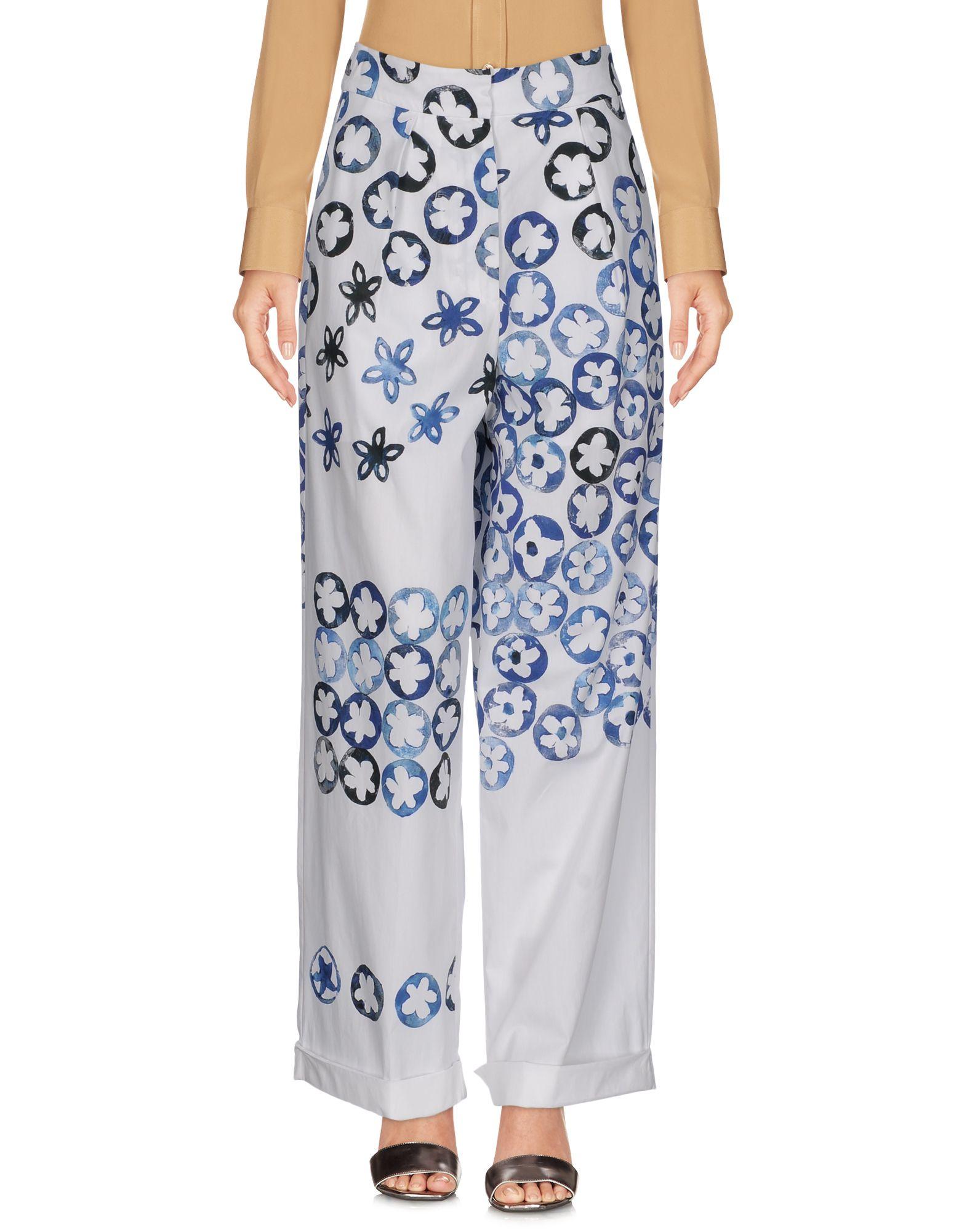 PORTS 1961 Повседневные брюки fashion stripe pattern fringed edge pashmina for women