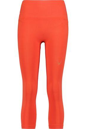 LUCAS HUGH Cropped stretch-jersey leggings