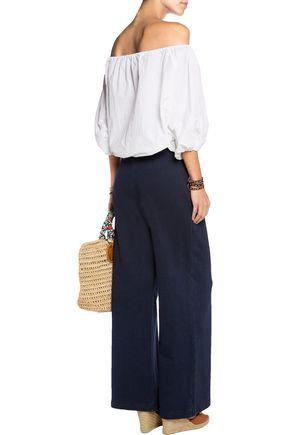 AG Jeans Para pleated cotton wide-leg pants