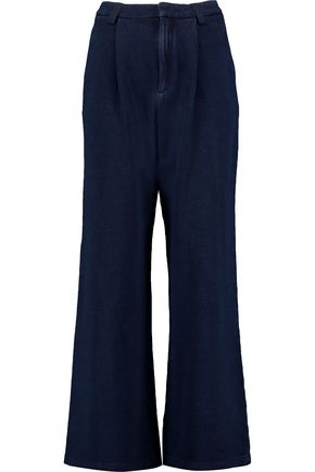 AG Jeans Para pleated cotton wide-leg pants