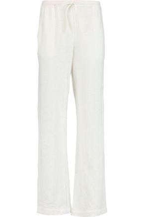 MAJESTIC Linen-blend track pants