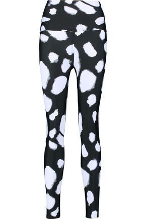 NORMA KAMALI Printed stretch-jersey leggings