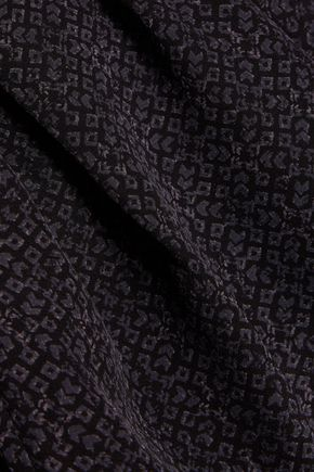 JOIE Alina printed silk crepe de chine tapered pants