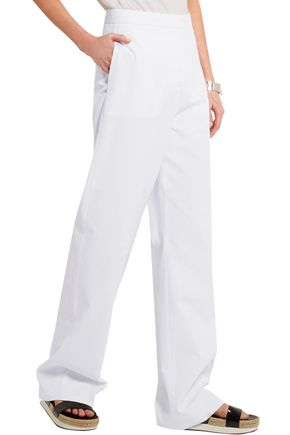 STELLA McCARTNEY Cotton-piqué wide-leg pants