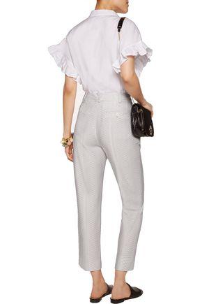MISSONI Cropped jacquard tapered pants
