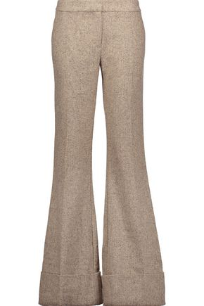 CO Wool-tweed bootcut pants