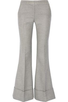 CO Wool and silk-blend flared pants