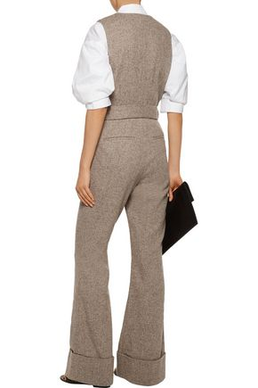 CO Belted herringbone wool jumpsuit