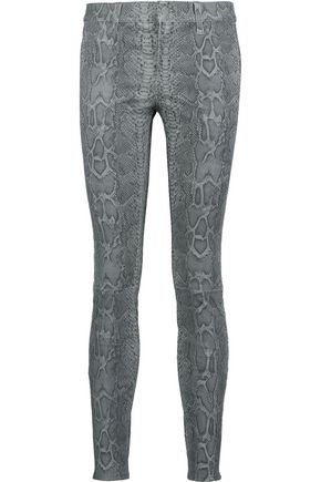 J BRAND Metallic leather skinny pants