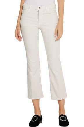 J BRAND Selena cropped cotton-blend corduroy mid-rise bootcut jeans