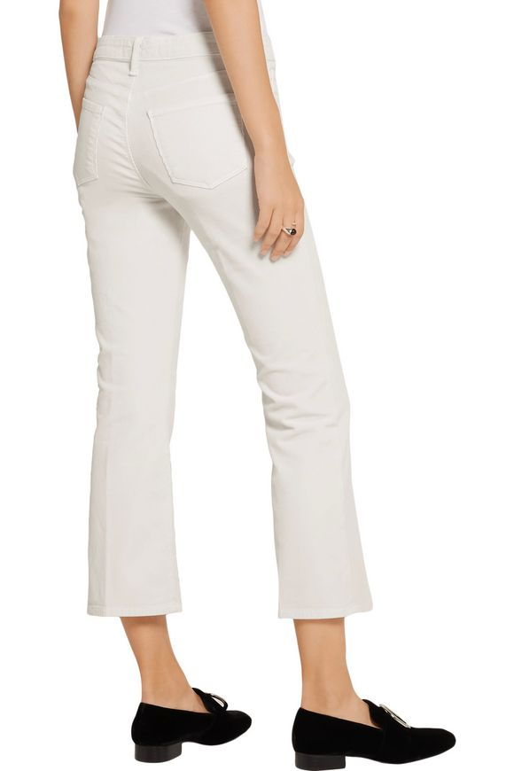 Selena cropped corduroy bootcut pants | J BRAND | Sale up to 70% off | THE  OUTNET