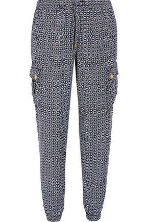 MICHAEL MICHAEL KORS Printed Tencel track pants