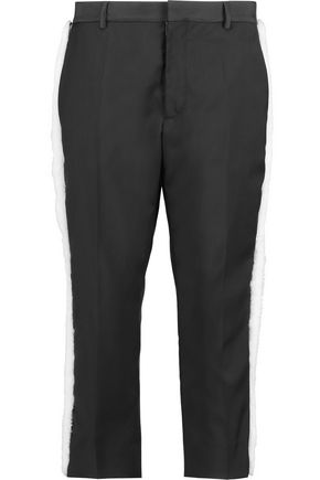 MAISON MARGIELA Shearling-trimmed wool slim-leg pants