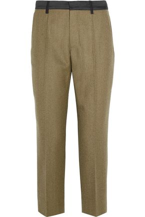MAISON MARGIELA Cropped wool-gabardine slim-leg pants
