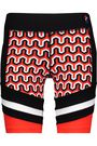 P.E NATION Wigner color-block printed stretch-jersey shorts