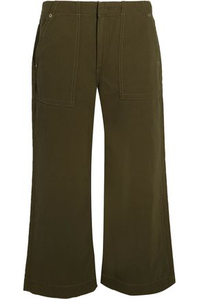 RAG & BONE Denny cropped cotton-twill wide-leg pants