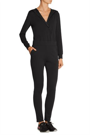 LIVE THE PROCESS Hooded stretch-jersey jumpsuit