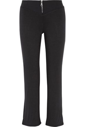 LIVE THE PROCESS Oblique stretch-Supplex® wide-leg pants