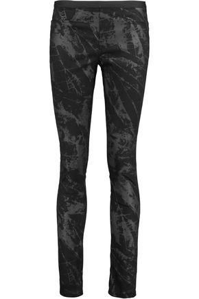 HELMUT LANG Printed twill skinny pants