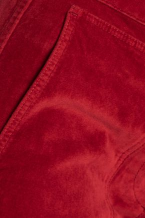 3x1 Cropped velvet bootcut pants